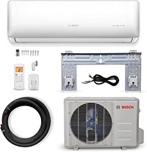 Bosch Thermotechnology Bosch Ultra-Quiet 9K BTU 230V Mini Split Air Conditioner & Cooling System Generation 2 with Inverter Heat Pump, 23.5 SEER High-Efficiency - Energy Star Certified, Multicolor