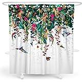 3D Zebra Flower 535 Shower Curtain Waterproof Fiber Bathroom Home Windows Toilet
