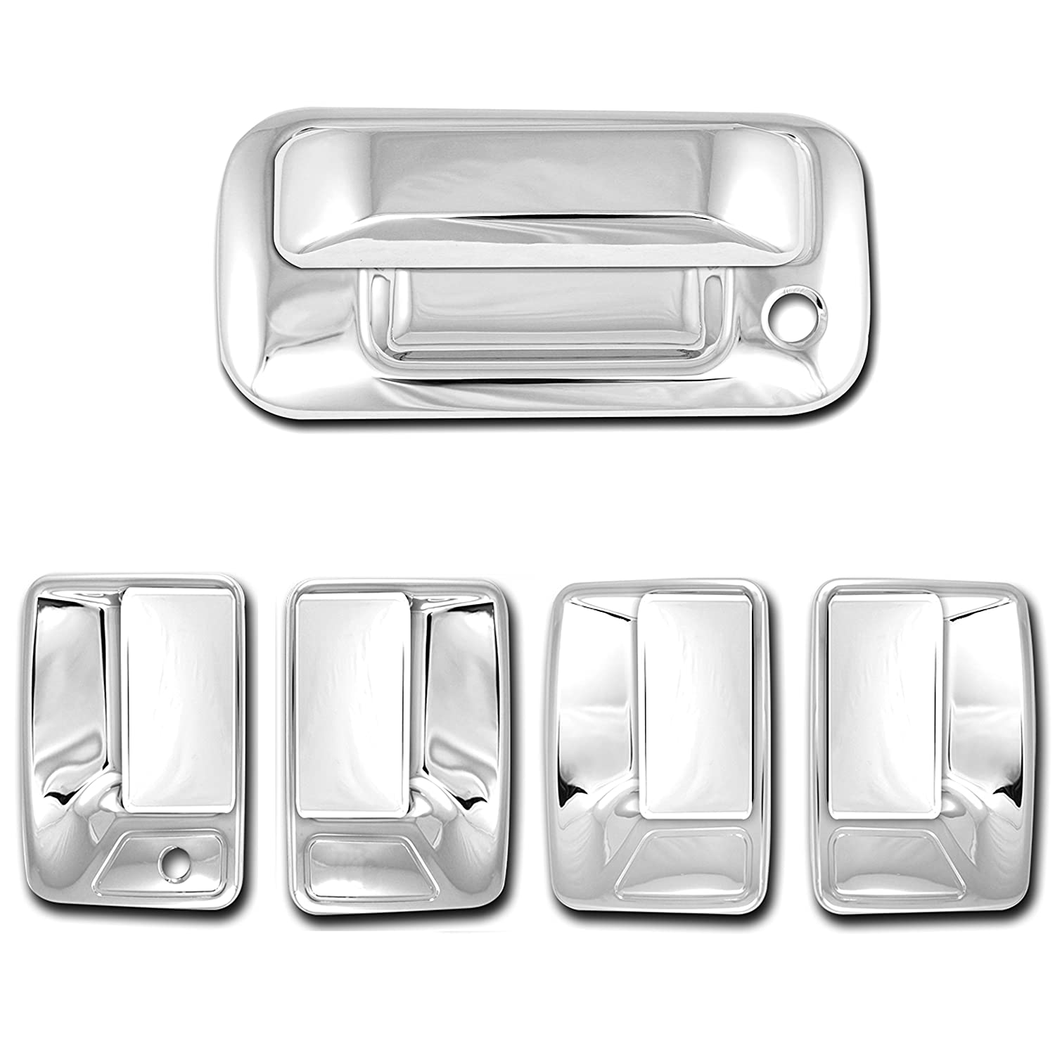11-16 Ford Super Duty Chrome 2 Door Handle w//o PSG keyhole+Tailgate+Gas Cover