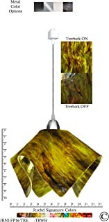 product image for Jezebel Signature Flame Track Lighting Pendant Large. Hardware: Nickel. Glass: Treebark