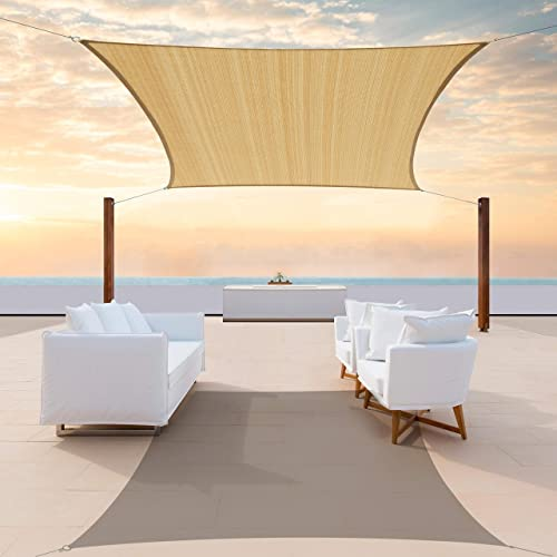 ColourTree CTAPR0814 Custom Size 19' x 19' Sand Beige Sun Shade Sail Canopy UV Block Square