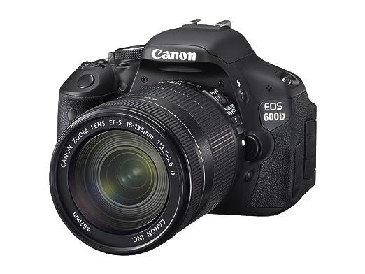 Canon EOS 600D - Cámara Réflex Digital 18.7 MP (Objetivo EF-S 18 ...