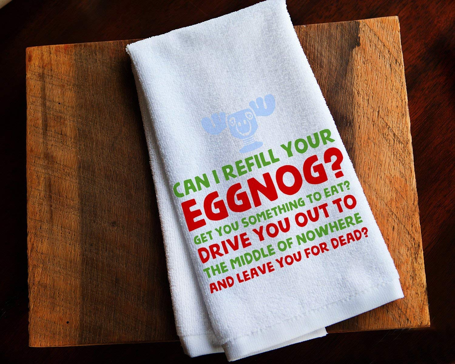 Funny Kitchen Towel Christmas Vacation Eggnog Clark Griswold