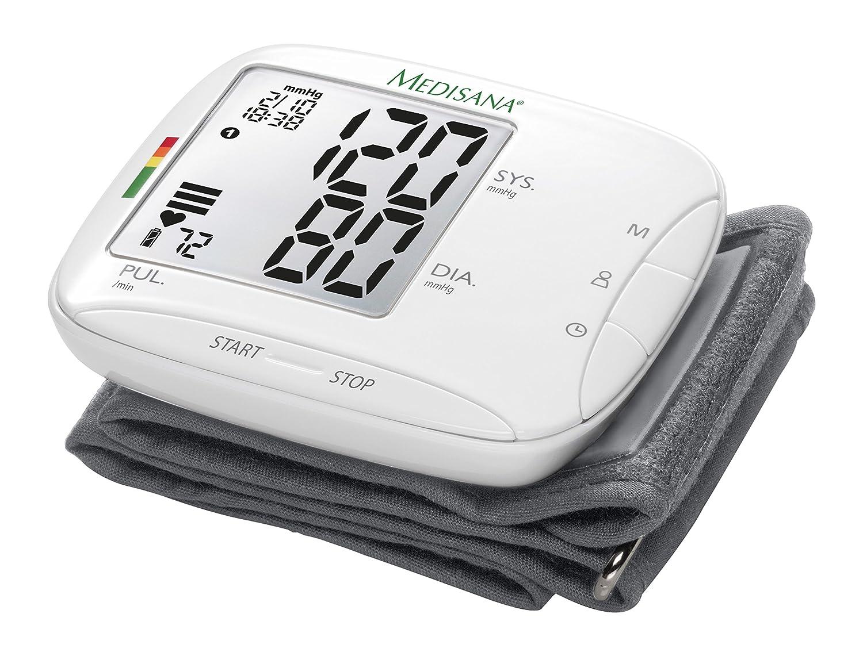 Medisana BW 333 51075 Monitor de Presión Arterial para la Muñeca, Visualización de Arritmias, Escala de Colores, Semáforo de la OMS, Pantalla de Fácil ...