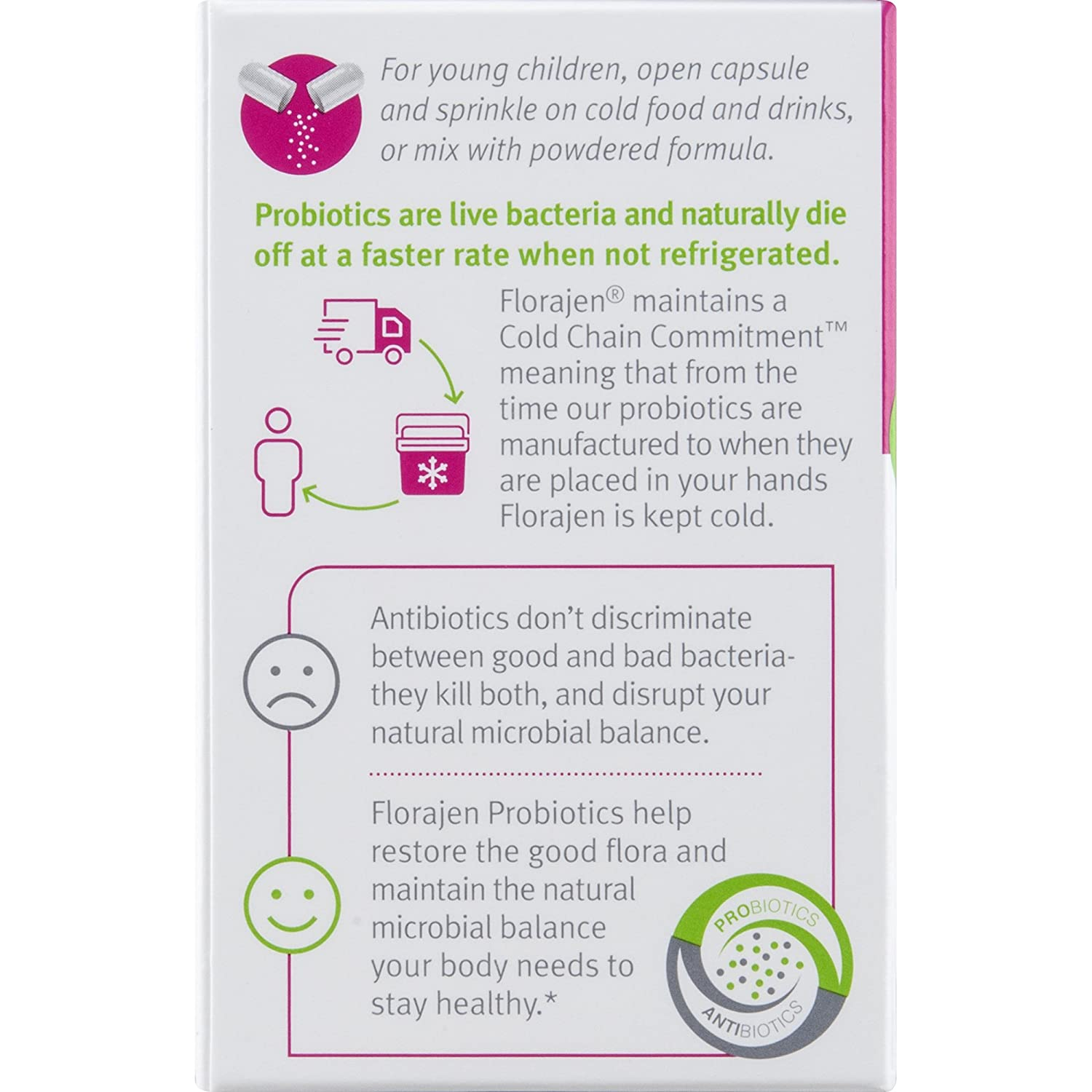 Amazon com: Florajen Kids Refrigerated Probiotics | Supports