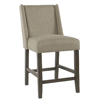 Fabulous Homepop Dinah Modern Counter Height Barstool 24 Inch Brown Inzonedesignstudio Interior Chair Design Inzonedesignstudiocom