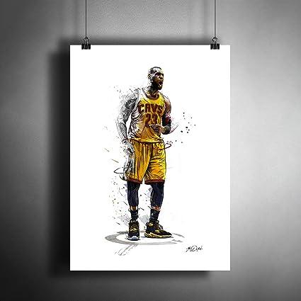 b5c88f780681b Amazon.com: Lebron James NBA Basketball Art Poster Photo Print Decor ...