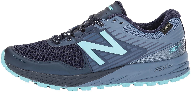 Amazon.com | New Balance Womens 910V4 Gore-Tex Running Shoe, Pigment/Porcelain Blue, 5.5 B US | Trail Running