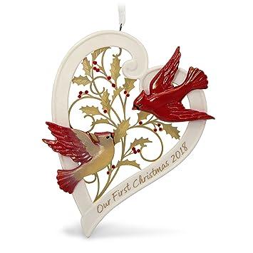 Hallmark Our First Christmas Ornament.Hallmark Keepsake Christmas Ornament 2018 Year Dated Our First Christmas Together Heart Porcelain