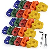 SSBRIGHT Sets of 25 Multi-Colored Kids&Adults Large Rock Climbing Holds Climbing Rocks for Outdoor Indoor Home Playground DIY