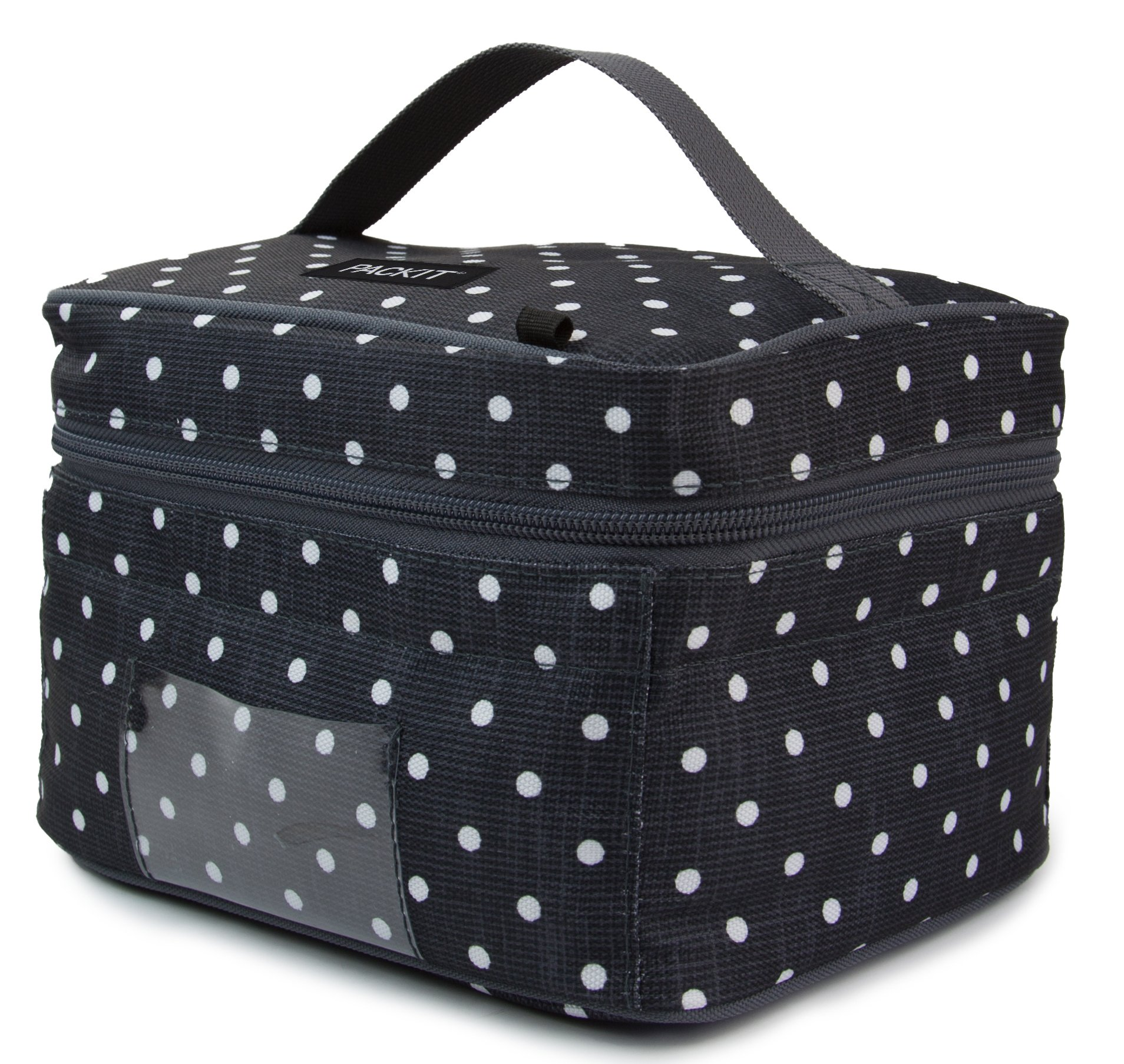 PackIt Freezable Baby Bottle Cooler for Breastmilk and Formula, Polka Dots by PackIt