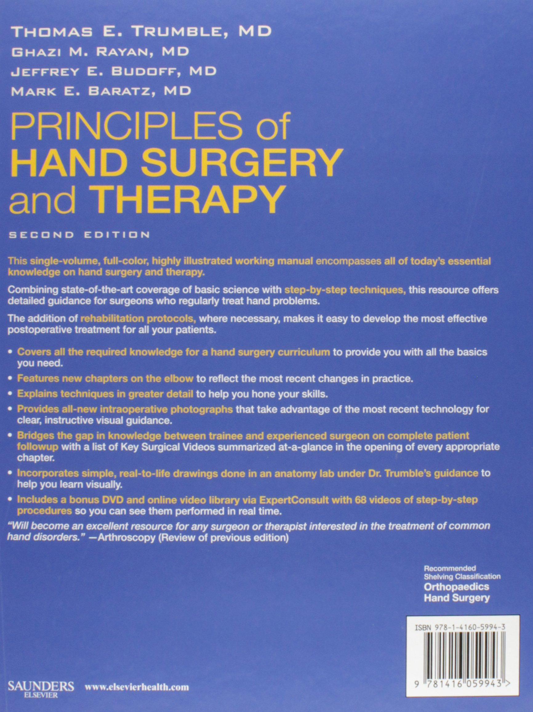 Principles of hand surgery and therapy expert consult online and principles of hand surgery and therapy expert consult online and print with dvd 2e book website amazon thomas e trumble md ghazi m rayan fandeluxe Images