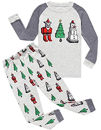 Amazon.com: Boys Christmas Pajamas Little Kids Pjs Sets 100 ...