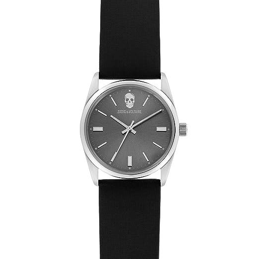 Zadig   Voltaire Mixte Date Standard Quartz Montre avec Bracelet en Tissu  ZVF239 855877e08ad