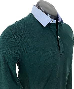 MASSIMO DUTTI 0745/202/501 - Polo de algodón para Hombre Verde M: Amazon.es: Ropa y accesorios