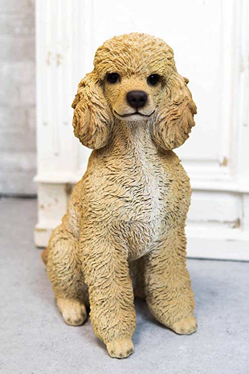 Ebros Large Realistic Adorable Groomed Brown Poodle Statue 18 5 Tall Animal Pet Pal Poodles Dog Breed Lifelike Doggie Collectible Resin Decor Figurine With Glass Eyes Home Kitchen