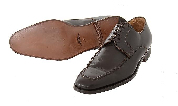 Amazon.com: Sutor Mantellassi 9 1/2 Brown Leather Apron Toe Derby Blucher  Lace Up Dress Shoe: Clothing