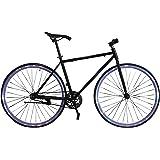 Fixie Helliot Fixie Tribeca H21 Bicicleta Urbana, Hombre, Negro y Violeta, Estandar