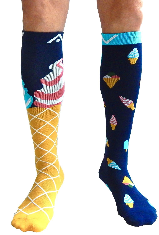 A-Swift Compression Socks Women & Men 20-30mmhg (1 pair) - Mismatched & Fun