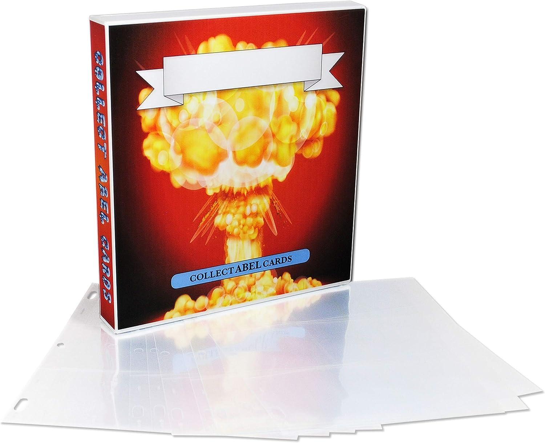 UniKeep Garbage Pail Kids GPK Themed Collectible Card Storage Binder, 450 Card Capacity (Adam Bomb)