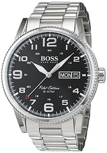 9b5db73aa602 HUGO BOSS Men's Analogue Quartz Watch with Stainless Steel Bracelet -  1513327: Amazon.co.uk: Watches