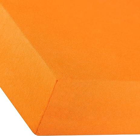 aqua-textil Premium Sábanas Ajustables Cama Boxspring Cama de Agua algodón Elastano 180x200-200x220 cm Naranja: Amazon.es: Hogar