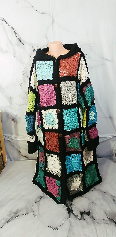 8f2c1702bb3b9a Amazon.com  Granny Square Coat