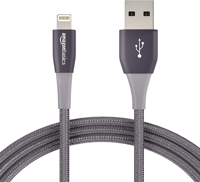 Basics Premium-Kollektion Rot Lightning-auf-USB-A-Kabel 0,9 m doppelt geflochtenes Nylon-Verbindungskabel