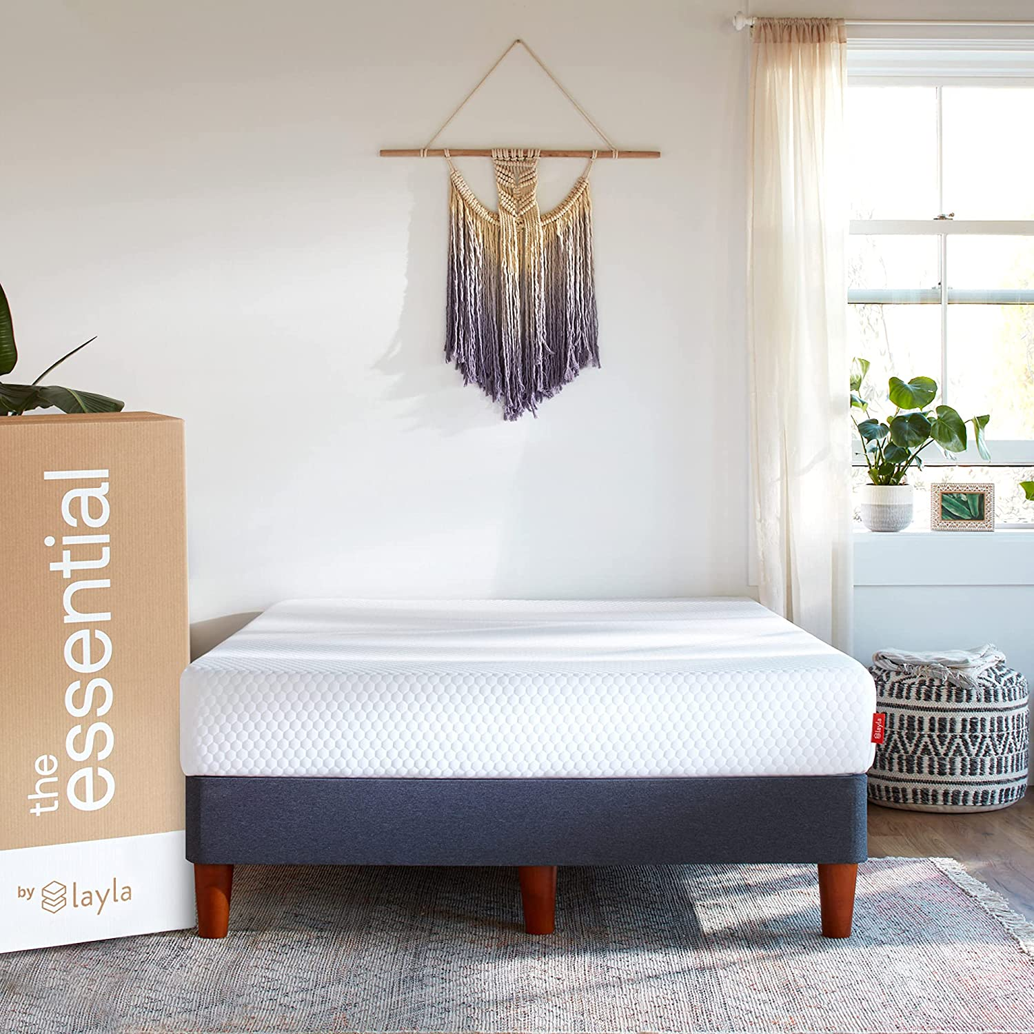 The Essential Mattress by Layla   9 in   CertiPURUS Certified Memory Foam   Get Improved Airflow with a Luxurious Feel   Fits All Sleeper Types   10 Year Limited Warranty (Full)