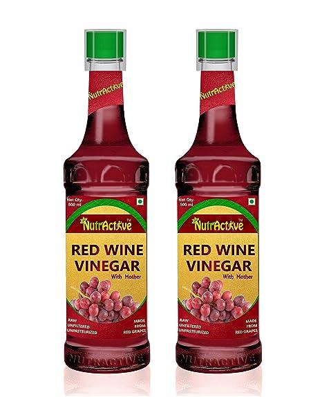 NutrActive Red Wine Vinegar | Balsamic Vinegar | Black Grapes Vinegar, Pack  of 2 (500 ml Each): Amazon.in: Grocery & Gourmet Foods