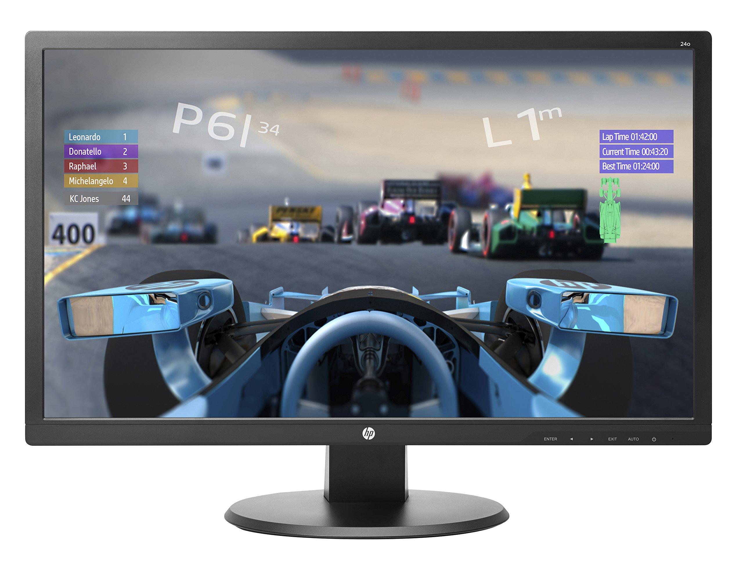 "HP 24o Ecran PC Full HD 24"" Noir (TN/LED, HDMI/DVI/VGA, 1920 x 1080, 16:9, 60 Hz, 1 ms) (Ref: X0J60AA) product image"