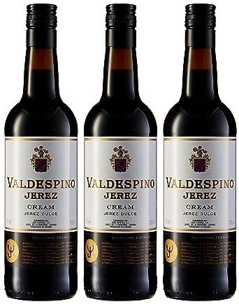Jerez valdespino -Vino dulce - 75cl - [paquete de 3]: Amazon ...