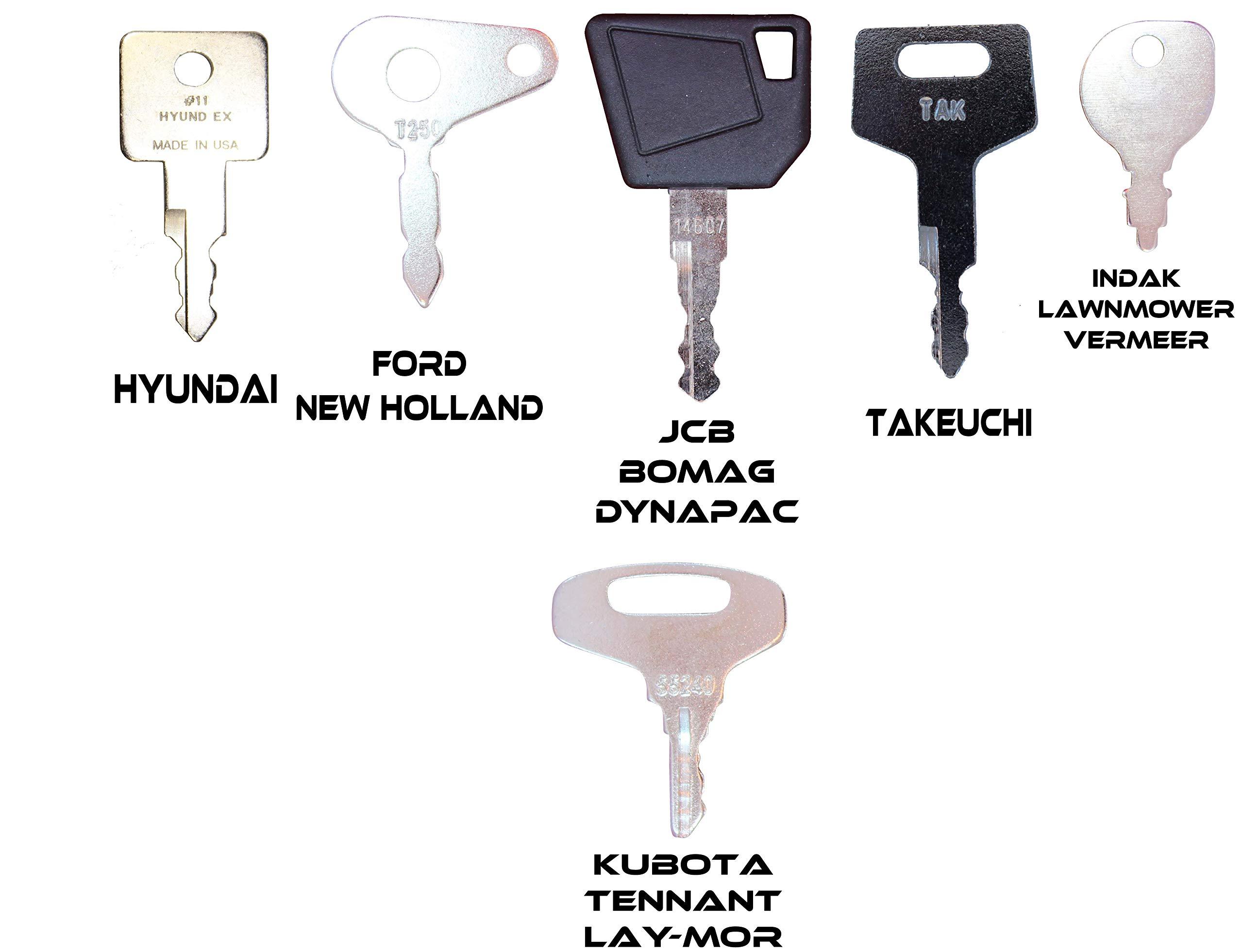 cat,hitachi etc. 16 tools 21 7 Keys Set Construction Ignition Key sets case 24 for backhoes 10 sets of 7 24 keys