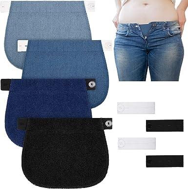 Amazon Com Willbond 8 Piezas De Extension De Pantalones De Maternidad Elasticos De Pantalon Extensores De Botones De Cintura Ajustable Extensor Para Embarazo Mujeres Hombres Pantalones Vaqueros Favores Clothing