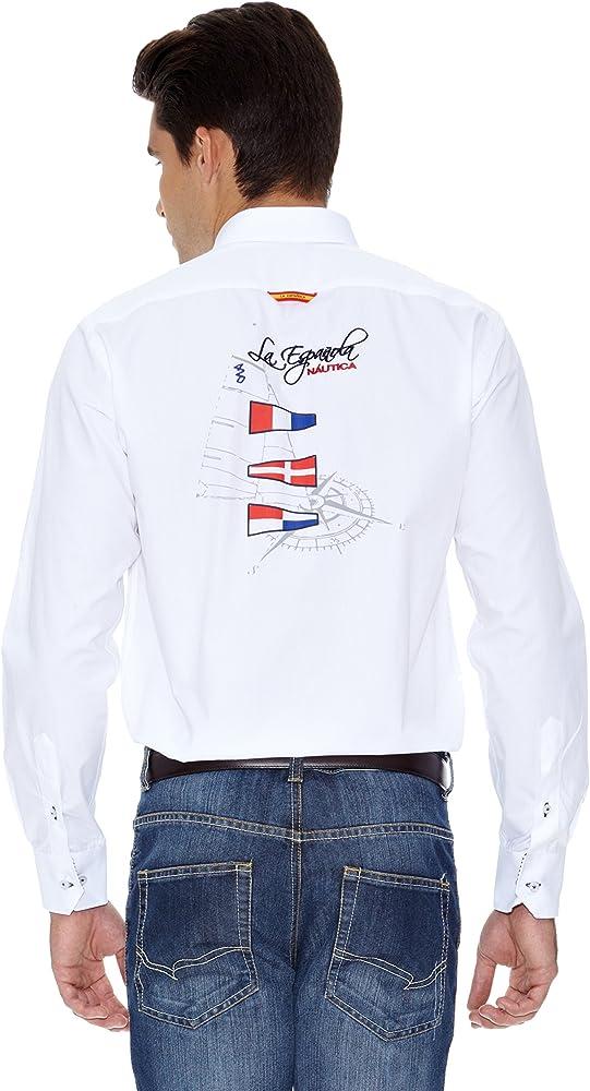 La Española Camisa Hombre Blanco L: Amazon.es: Ropa y accesorios