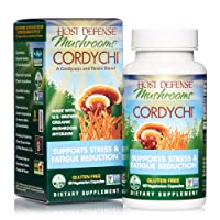 Host Defense, CordyChi Capsules, Helps Reduce Stress and Fatigue, Mushroom Supplement with Cordyceps and Reishi, Vegan, Organic, 60 Capsules (30 Servings)