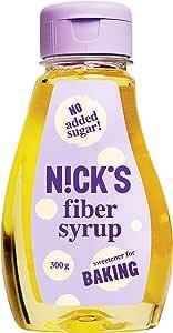 NICKS Fiber Syrup, jarabe de fibra, edulcorante alternativo de azúcar, sin azúcar añadido 300 g (natural)