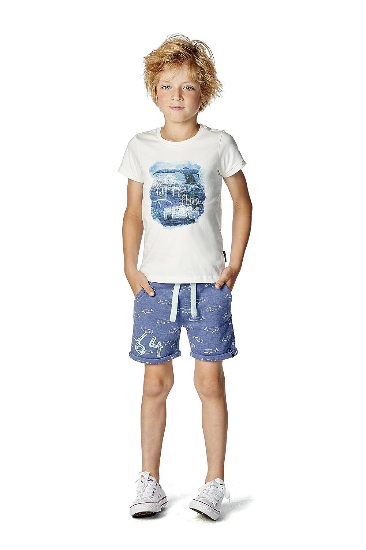 Noppies Jungen Shorts B Sweat Elfers AOP 75208