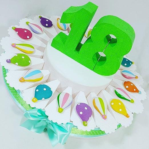 Tarta Decoración Globos llavero surtido 18 años cumpleaños ...