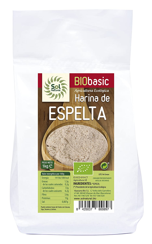 Sol Natural Harina de Espelta Blanca - Paquete de 10 x 1000 gr ...