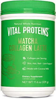 product image for Vital Proteins Matcha Lattes, Matcha Green Tea Collagen Latte Powder, L-Theanine & Caffeine & MCTs - Supporting Healthy Hair, Skin, Nails - Original