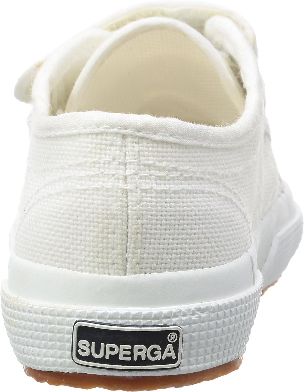 Blanc NULL 5 UK Basses fille Superga 2750 Jvel Classic White