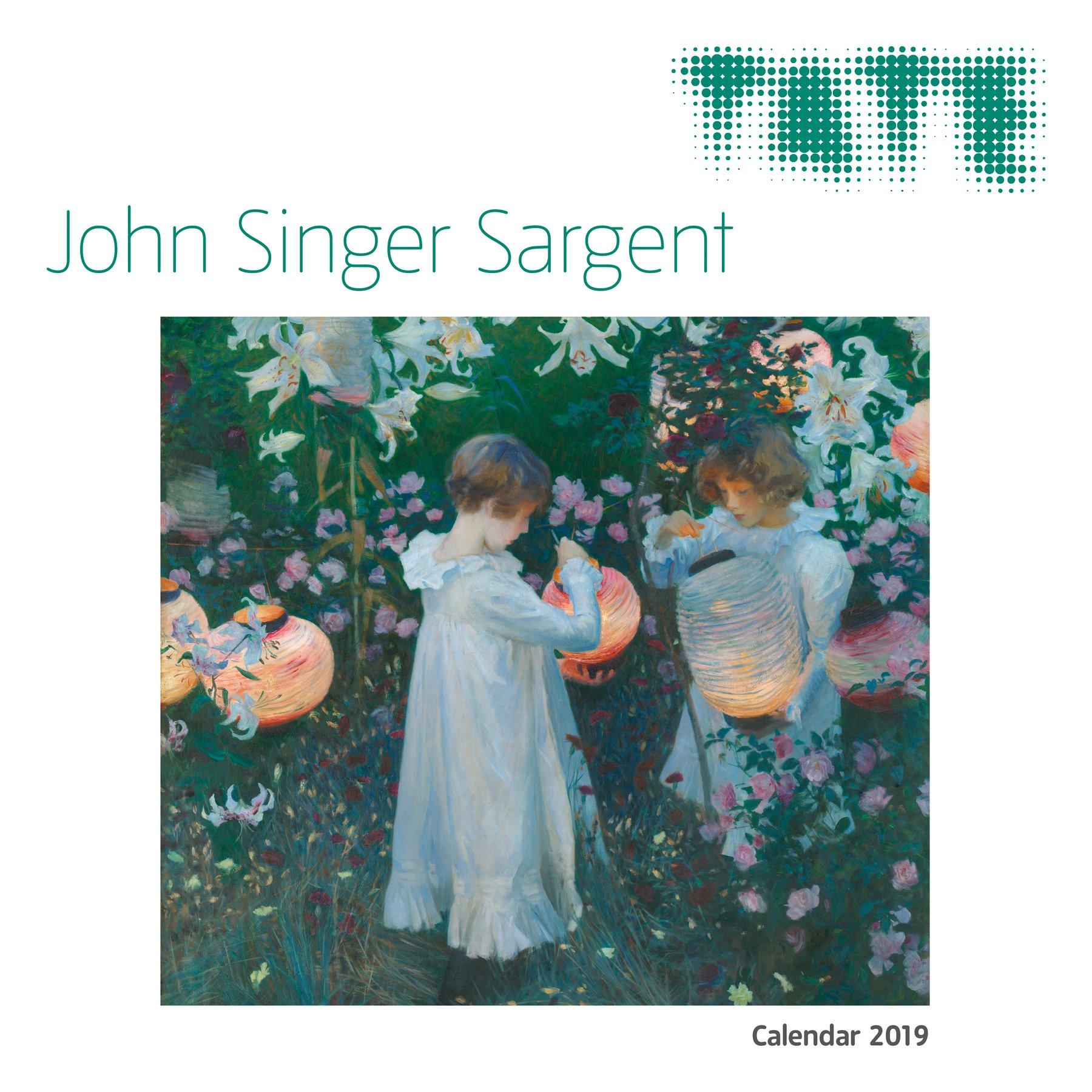 tate john singer sargent wall calendar 2019 art calendar