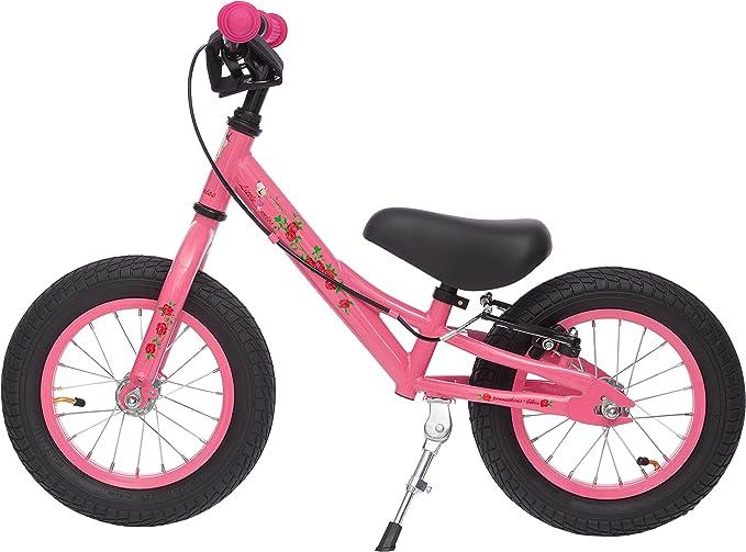 Prometheus 31cm (12 pulgada) Bicicleta sin pedales para niños con sillin regulable |12 BMX Edición | Rosa / Rojillo & Blanco: Amazon.es: Juguetes y juegos