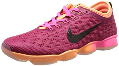 the best attitude 9fe64 45840 Nike Womens Flyknit Zoom Agility Running Trainers 698616 Sneakers Shoes (US  7, Pink Power