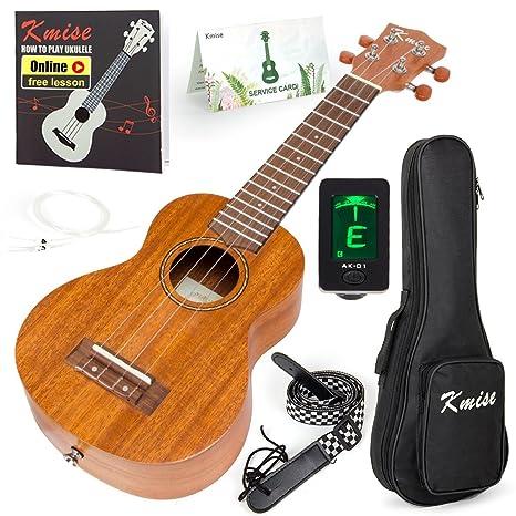 Amazon Kmise Soprano Ukulele 4 String Vintage Beginner Ukuleles