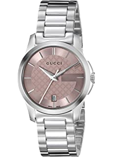 daa3eaee375 Gucci Womens Analogue Classic Quartz Watch with Stainless Steel ...