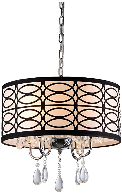 Whse of tiffany rl4825 tallalluh 4 light chrome chandelier 17 x 17 whse of tiffany rl4825 tallalluh 4 light chrome chandelier 17quot aloadofball Image collections