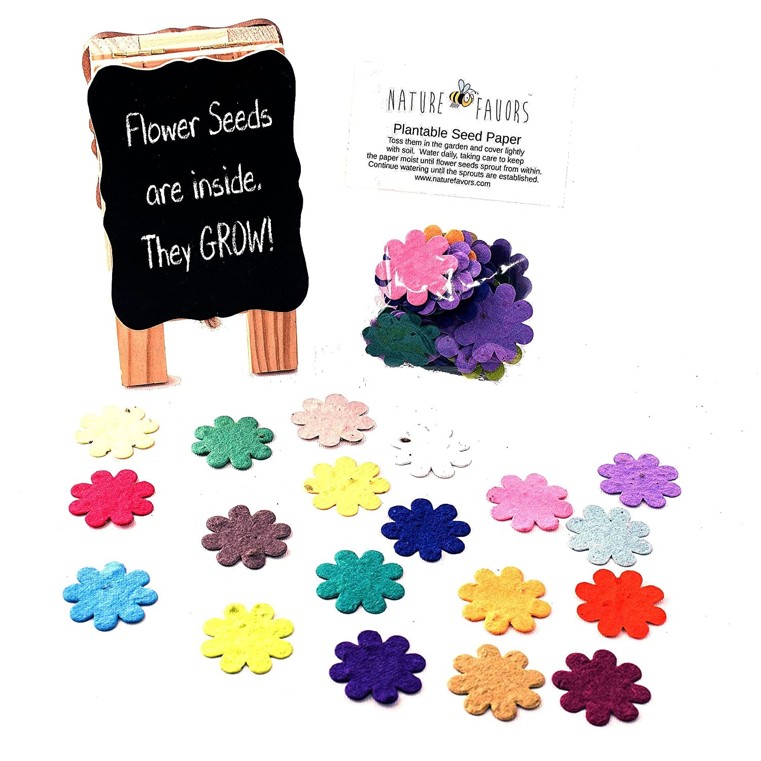 Amazon Plantable Seed Paper Flower Confetti In Assorted Colors