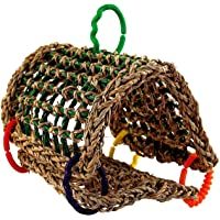 """Super Bird Creations SB881 Sheltering Seagrass Tent with Chewable Bumpy Links, Small to Medium Size, 8"""" x 7"""" x 8"""",Varies"""